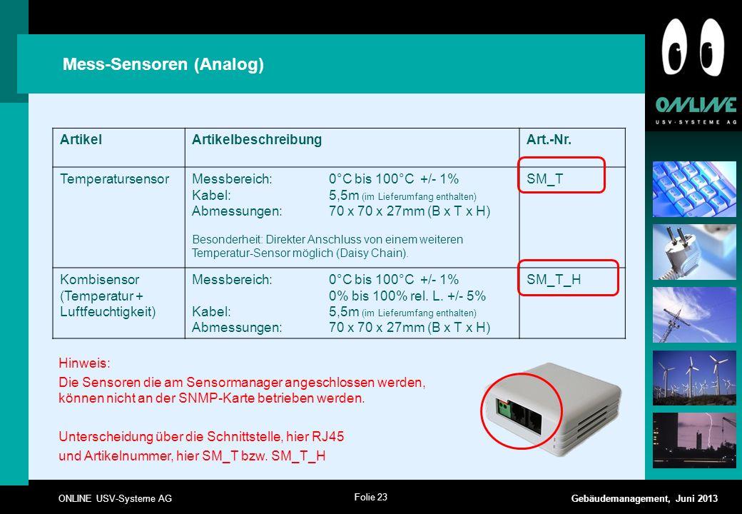 Mess-Sensoren (Analog)