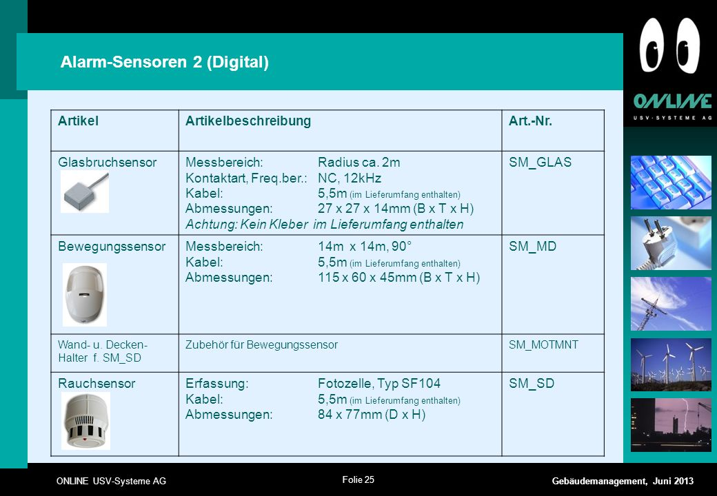 Alarm-Sensoren 2 (Digital)