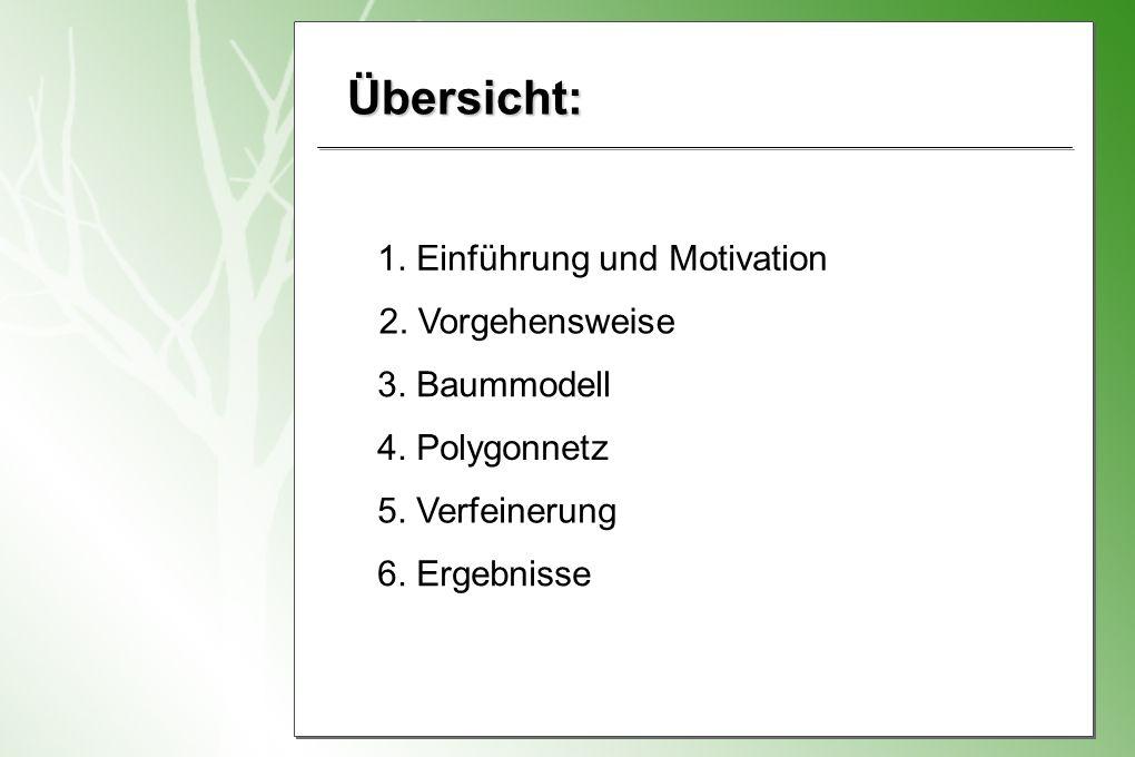 Übersicht: 1. Einführung und Motivation 2. Vorgehensweise