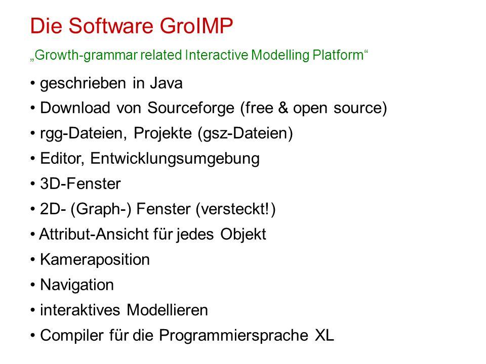 Die Software GroIMP geschrieben in Java