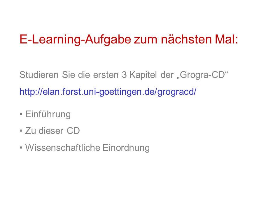 E-Learning-Aufgabe zum nächsten Mal: