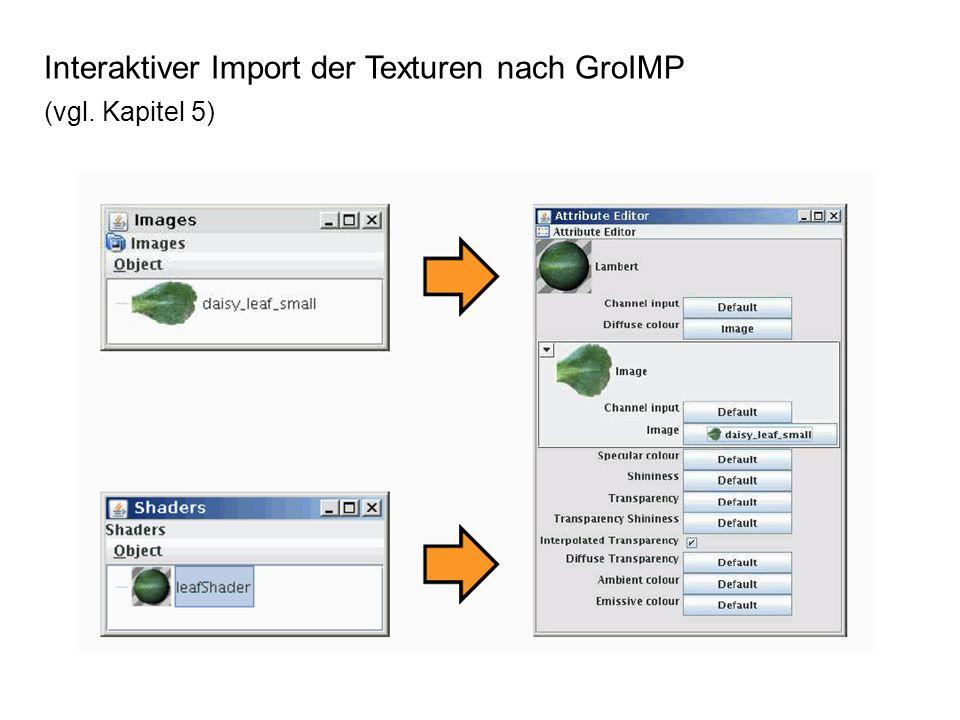 Interaktiver Import der Texturen nach GroIMP