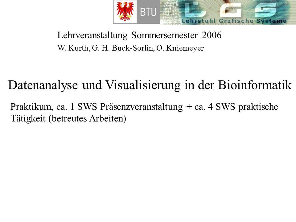 Datenanalyse und Visualisierung in der Bioinformatik