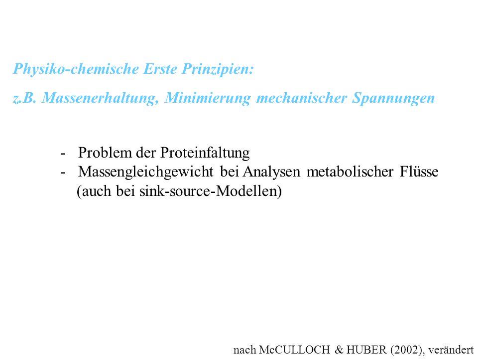 Physiko-chemische Erste Prinzipien:
