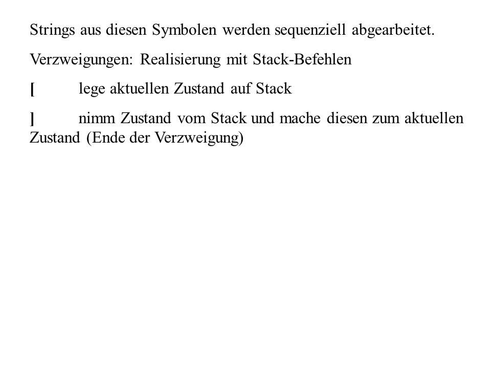 Strings aus diesen Symbolen werden sequenziell abgearbeitet.
