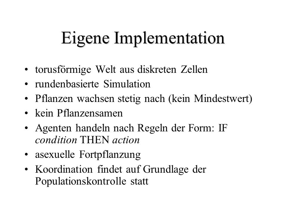 Eigene Implementation