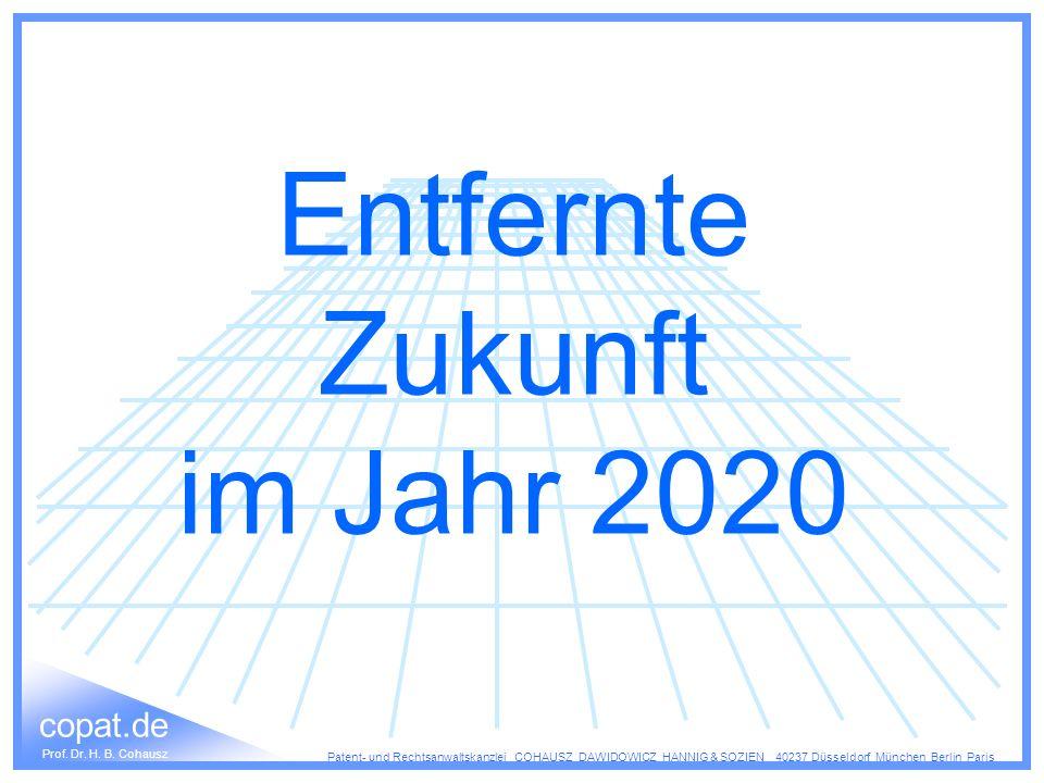 Entfernte Zukunft im Jahr 2020