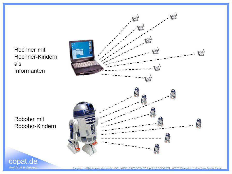 Rechner mit Rechner-Kindern als Informanten Roboter mit Roboter-Kindern