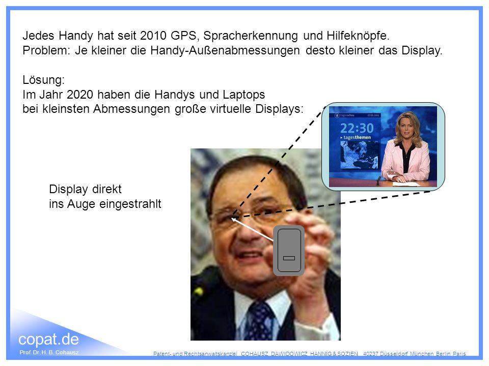 Jedes Handy hat seit 2010 GPS, Spracherkennung und Hilfeknöpfe.