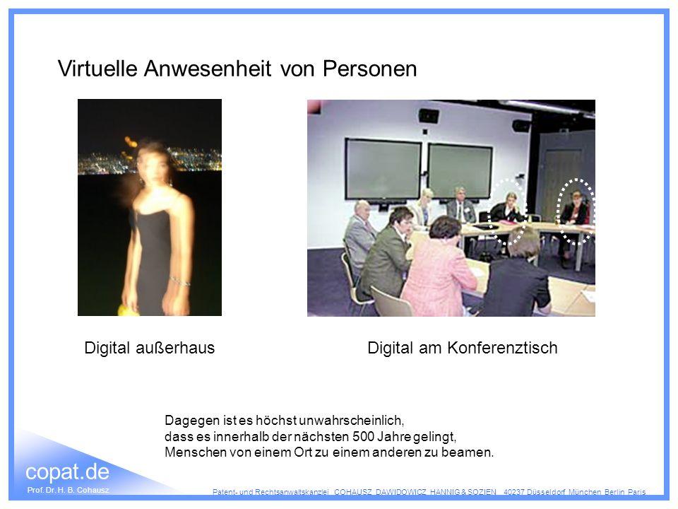 Virtuelle Anwesenheit von Personen