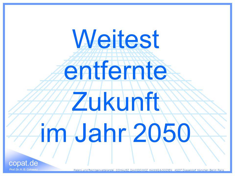 Weitest entfernte Zukunft im Jahr 2050