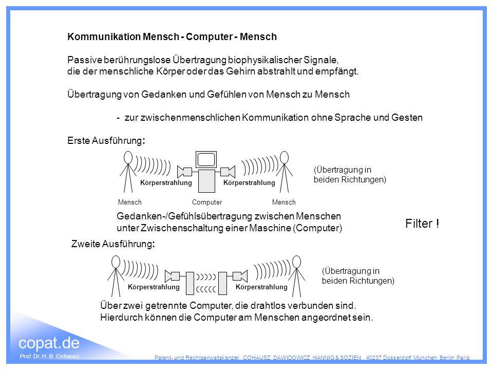 Filter ! Kommunikation Mensch - Computer - Mensch