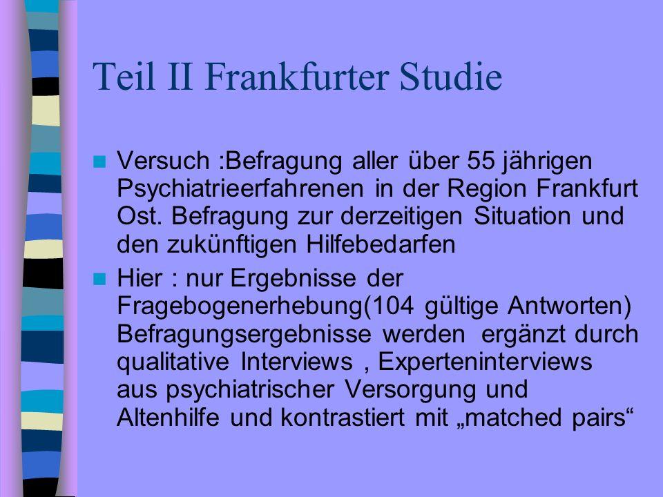 Teil II Frankfurter Studie
