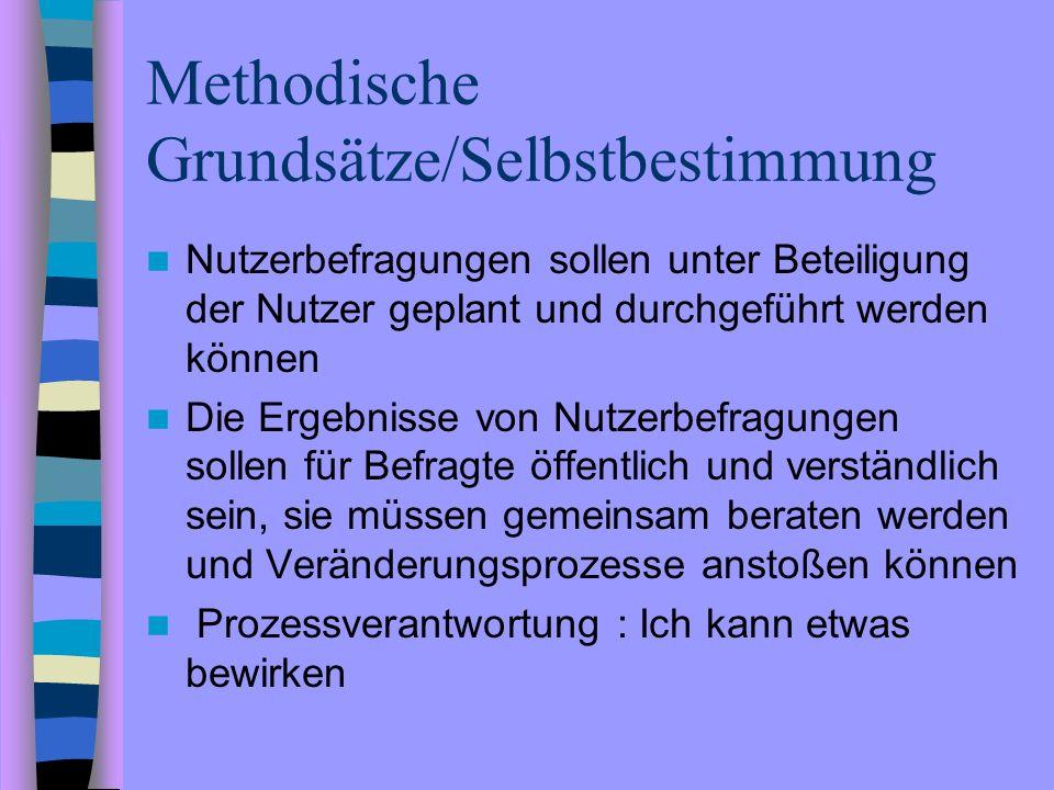 Methodische Grundsätze/Selbstbestimmung
