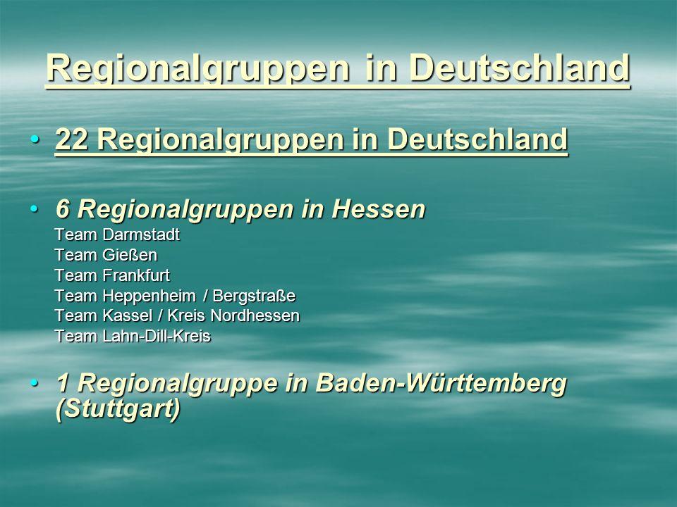 Regionalgruppen in Deutschland