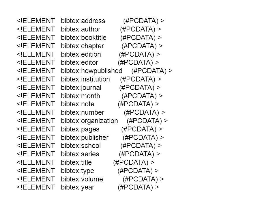 <!ELEMENT bibtex:address (#PCDATA) >