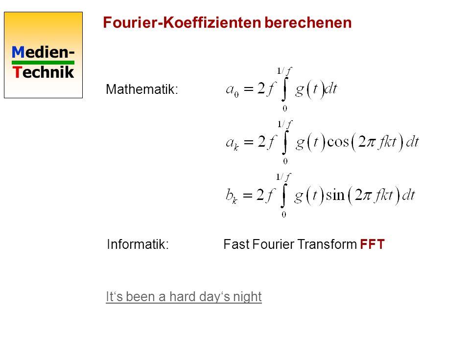 Fourier-Koeffizienten berechenen