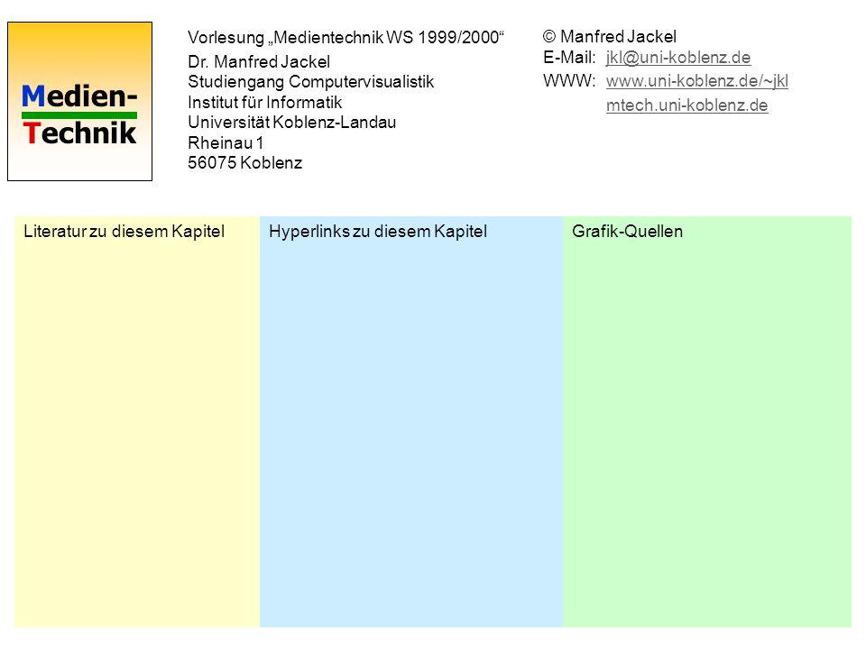 """Vorlesung """"Medientechnik WS 1999/2000"""