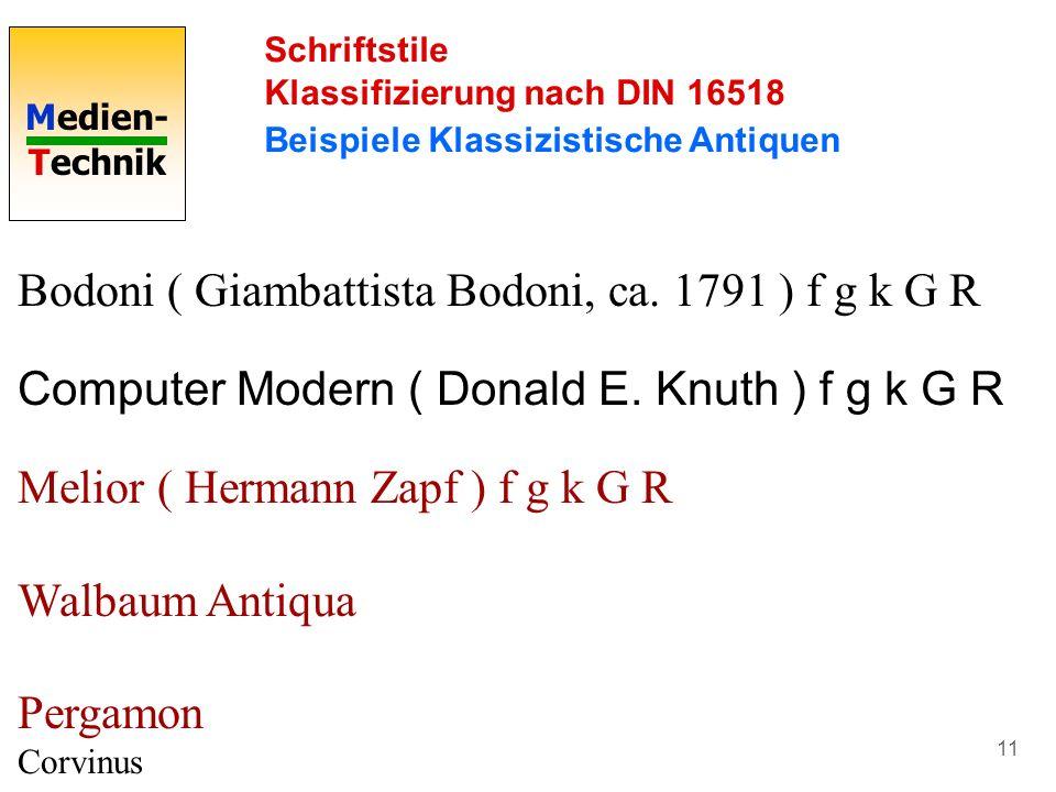 Bodoni ( Giambattista Bodoni, ca. 1791 ) f g k G R