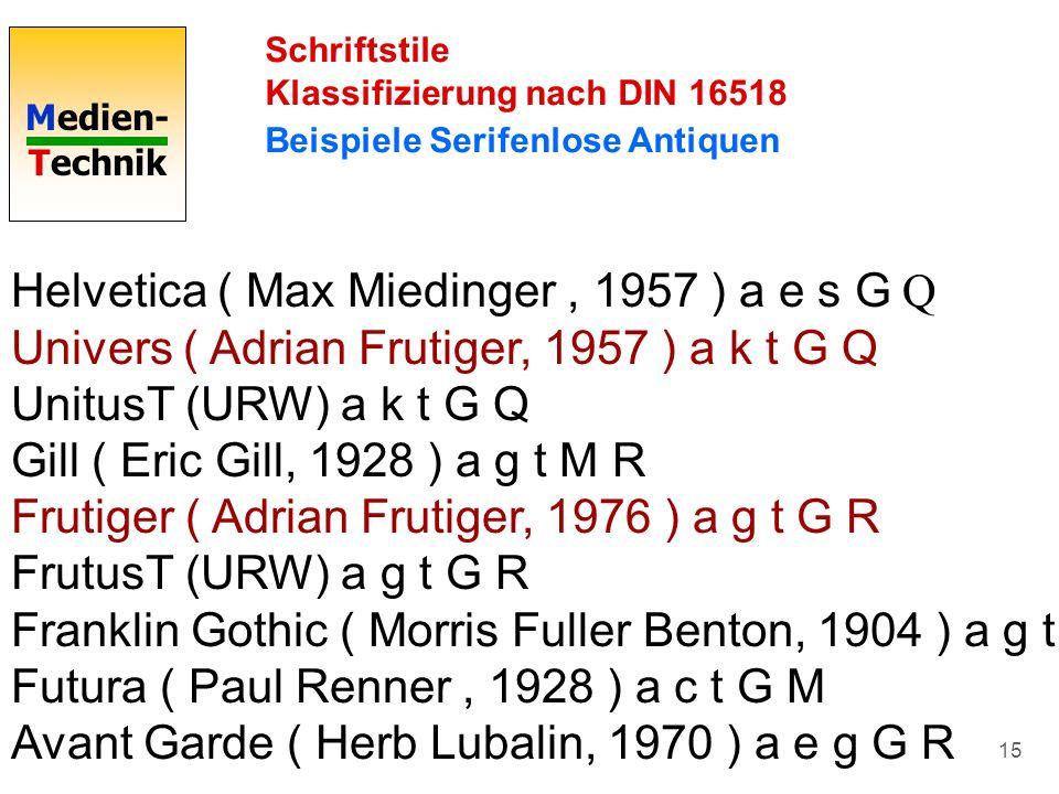 Helvetica ( Max Miedinger , 1957 ) a e s G Q