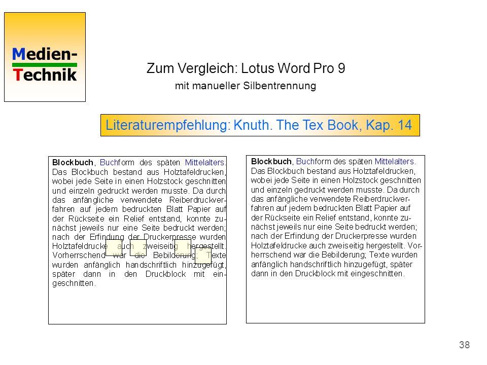 Zum Vergleich: Lotus Word Pro 9
