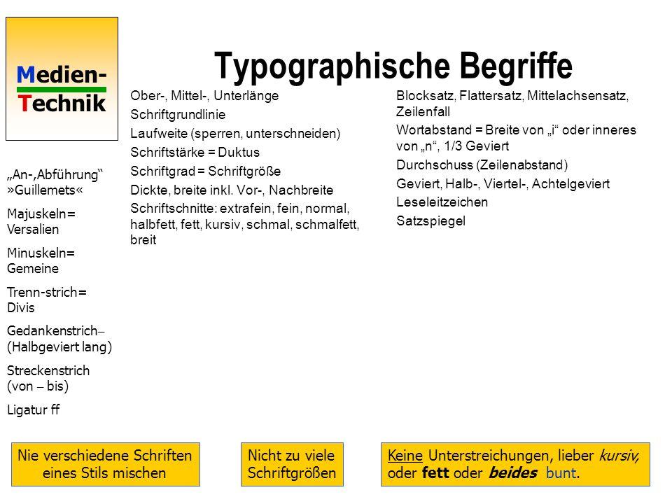 Typographische Begriffe
