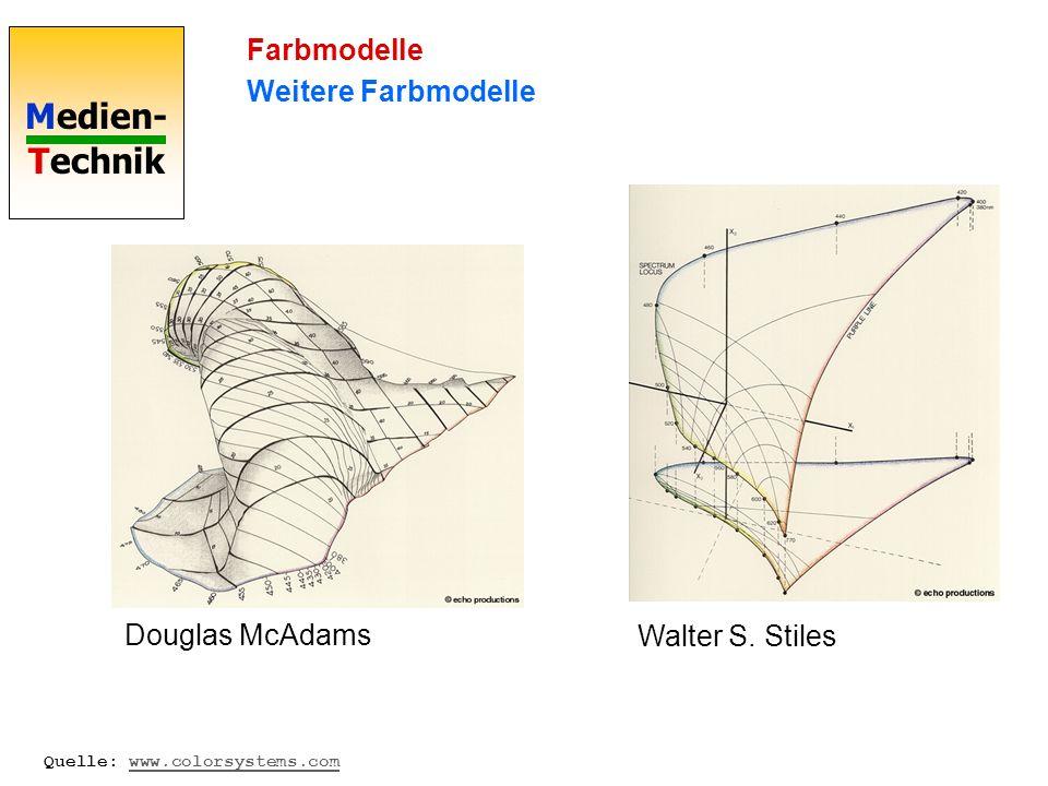 Farbmodelle Weitere Farbmodelle Douglas McAdams Walter S. Stiles