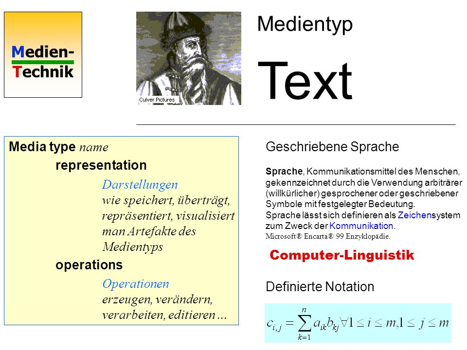 Text Medientyp Media type name representation
