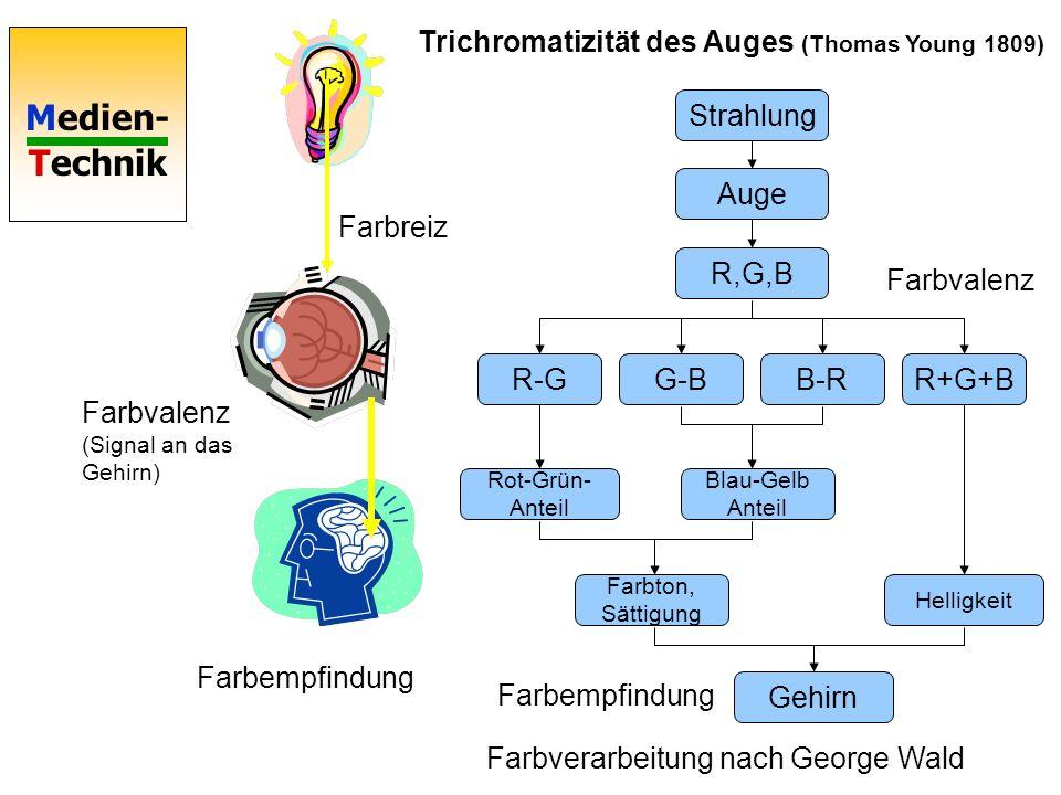 Trichromatizität des Auges (Thomas Young 1809)