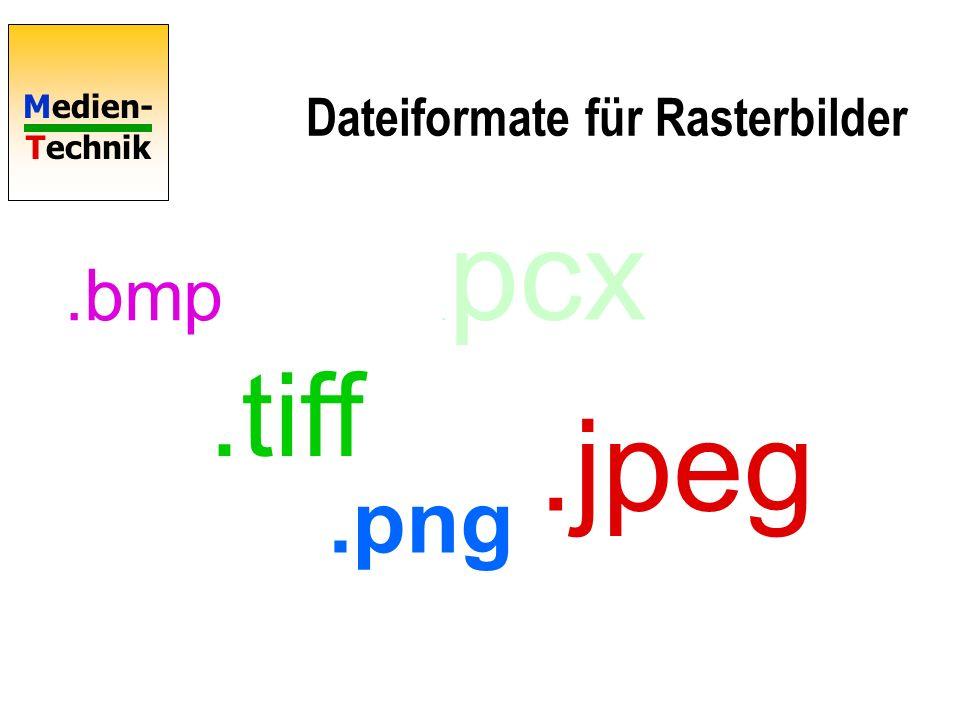 Dateiformate für Rasterbilder
