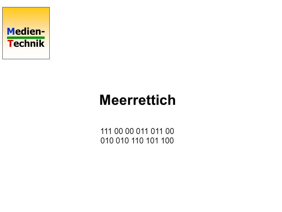 Meerrettich 111 00 00 011 011 00 010 010 110 101 100