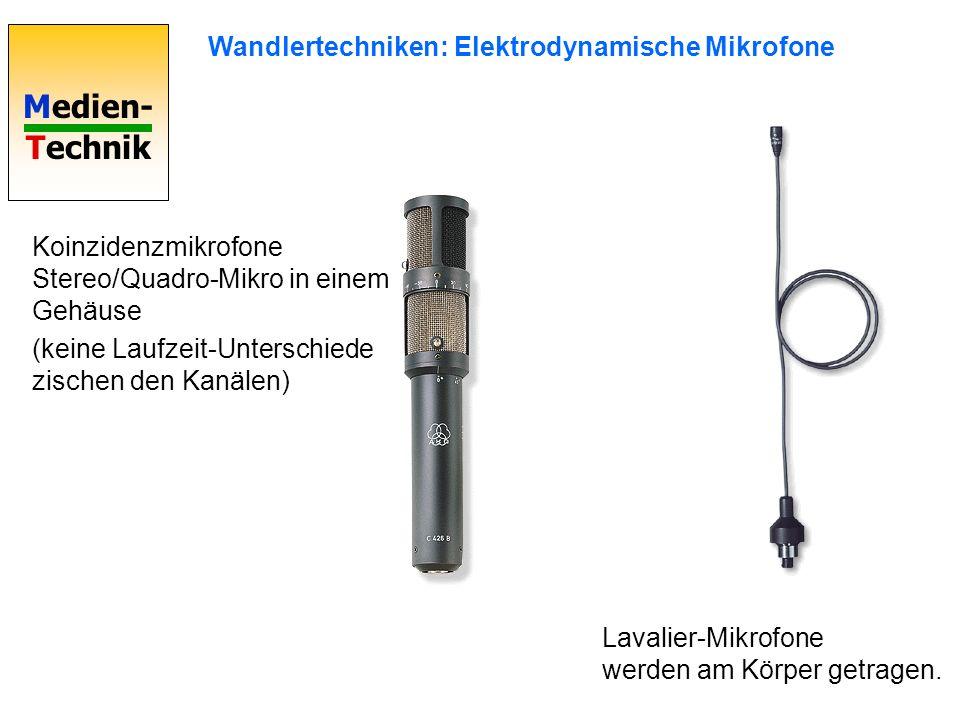 Wandlertechniken: Elektrodynamische Mikrofone