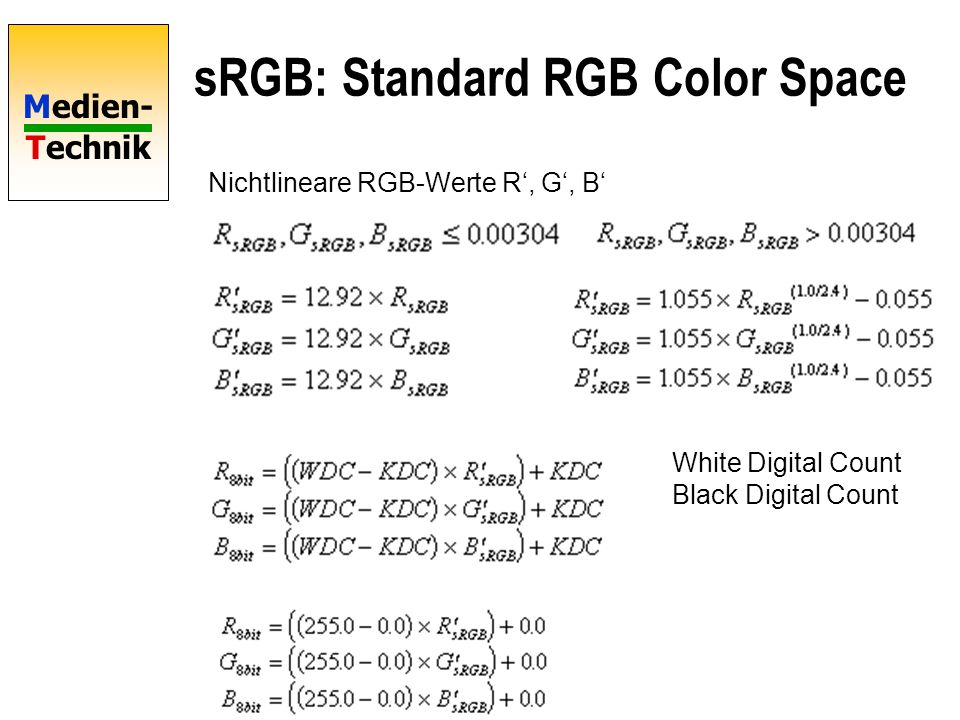 sRGB: Standard RGB Color Space