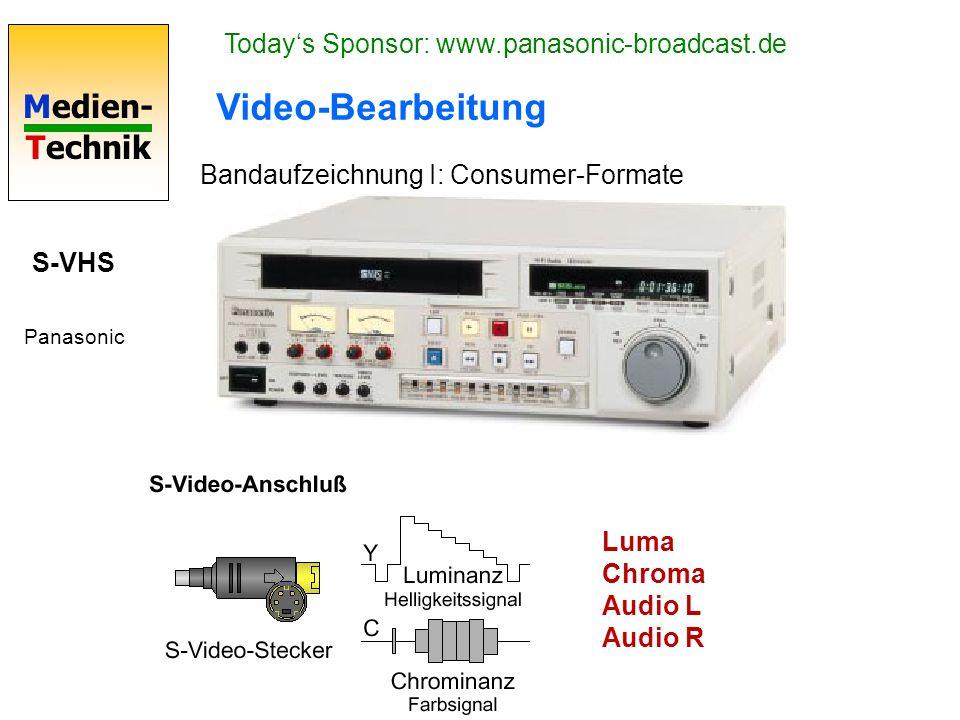 Video-Bearbeitung Today's Sponsor: www.panasonic-broadcast.de