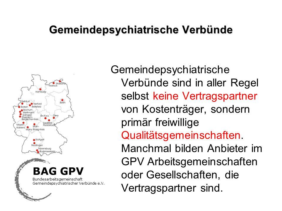 Gemeindepsychiatrische Verbünde