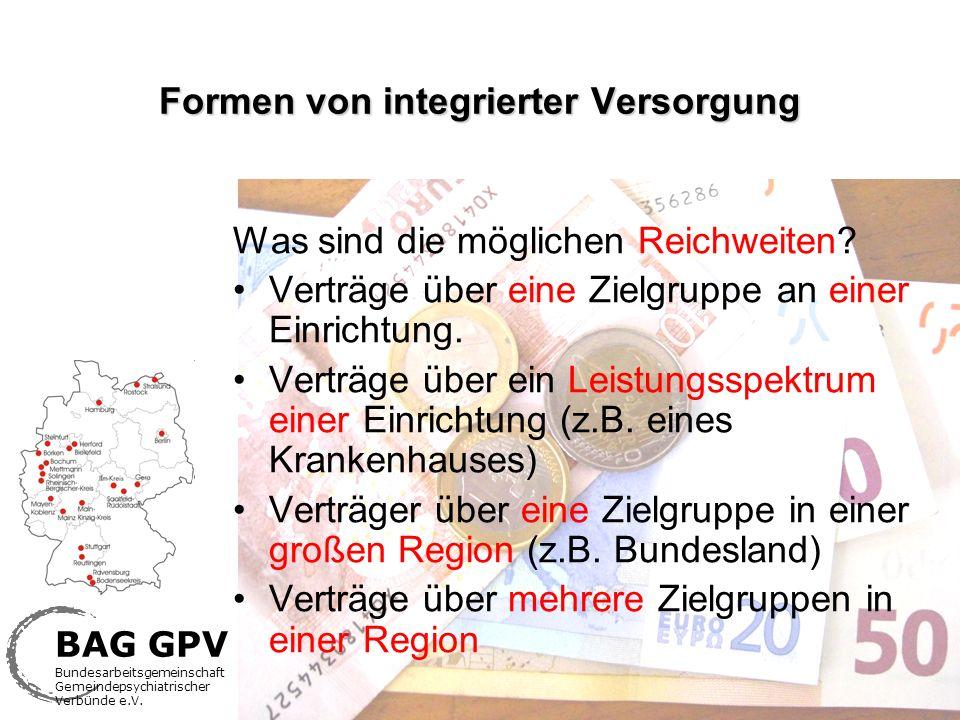 Formen von integrierter Versorgung