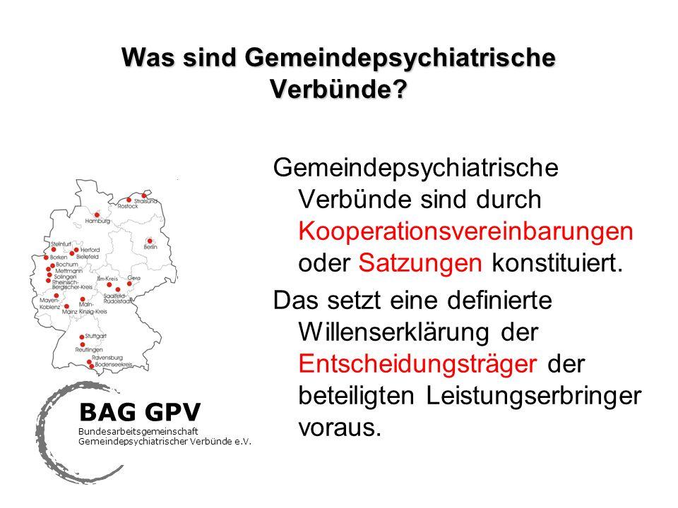 Was sind Gemeindepsychiatrische Verbünde