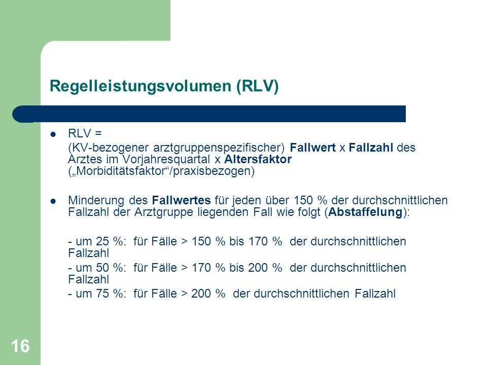 Regelleistungsvolumen (RLV)