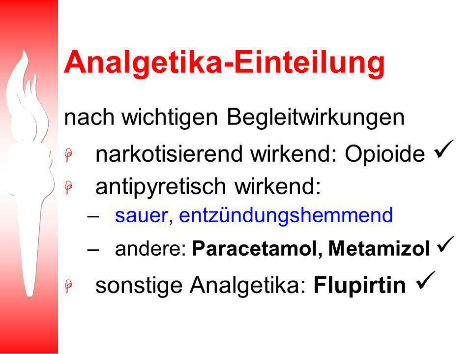 Analgetika-Einteilung