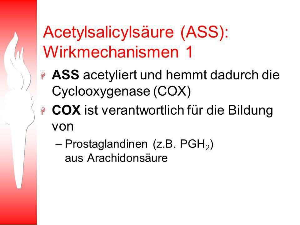 Acetylsalicylsäure (ASS): Wirkmechanismen 1
