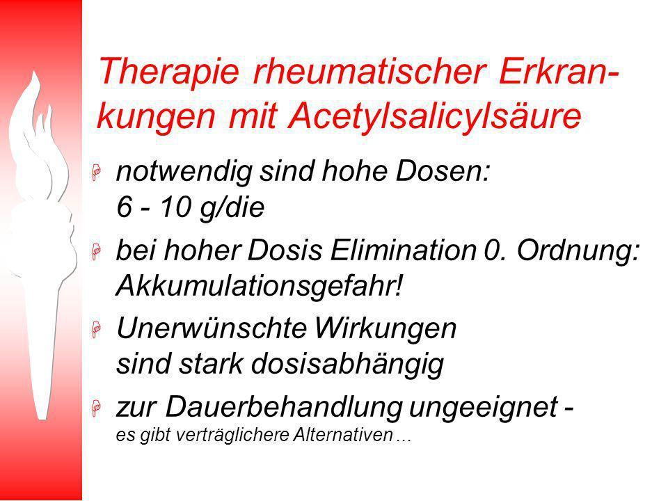 Therapie rheumatischer Erkran-kungen mit Acetylsalicylsäure