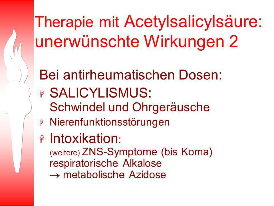 Therapie mit Acetylsalicylsäure: unerwünschte Wirkungen 2
