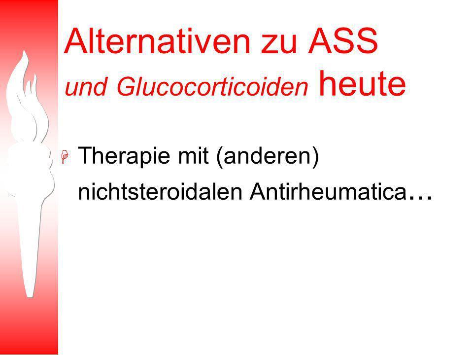 Alternativen zu ASS und Glucocorticoiden heute