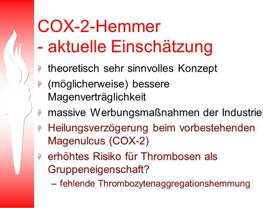 COX-2-Hemmer - aktuelle Einschätzung