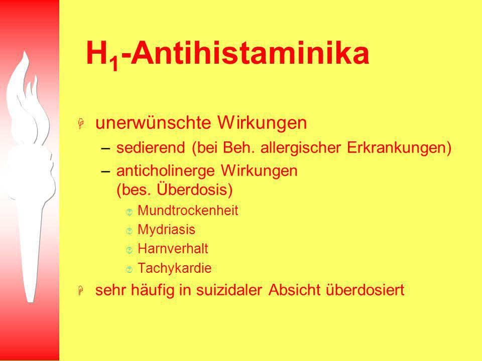 H1-Antihistaminika unerwünschte Wirkungen