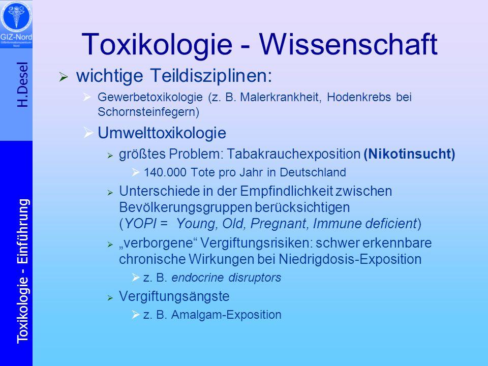 Toxikologie - Wissenschaft