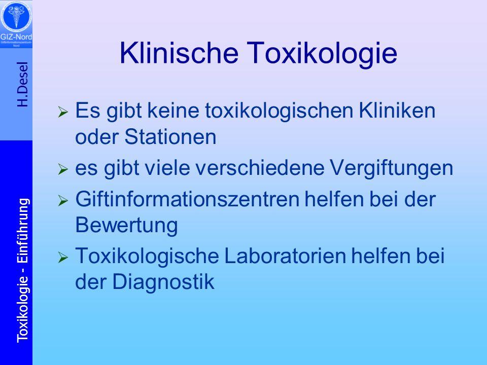 Klinische Toxikologie