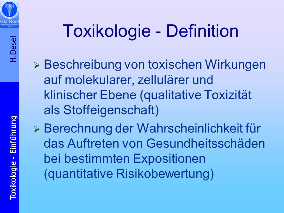 Toxikologie - Definition