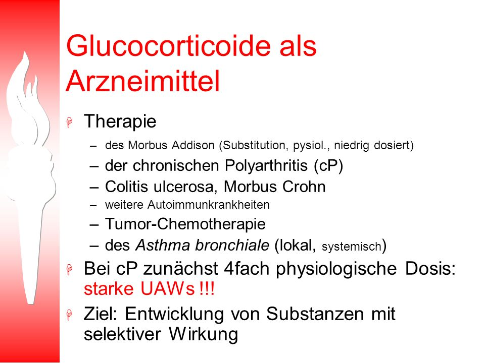 Glucocorticoide als Arzneimittel