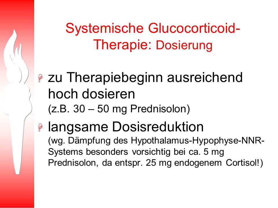 Systemische Glucocorticoid-Therapie: Dosierung
